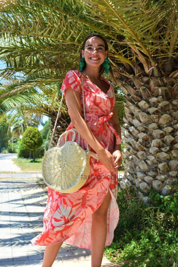 Floral Maxi Dress Κρουαζέ