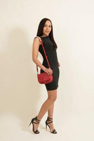 Κόκκινη Cocktail Τσάντα με Φουλάρι