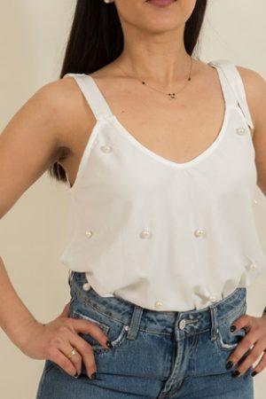 Μπλούζα με Πέρλες
