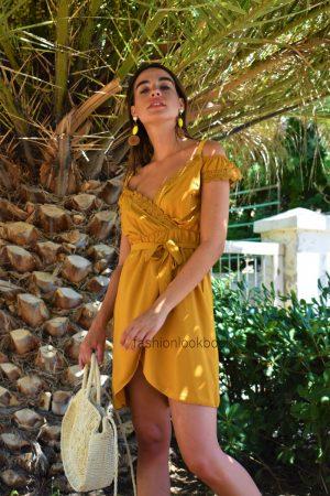 Κρουαζέ Μίνι Φόρεμα σε Χρώματα